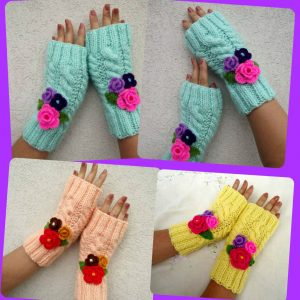 Camila Fingerless Mitts