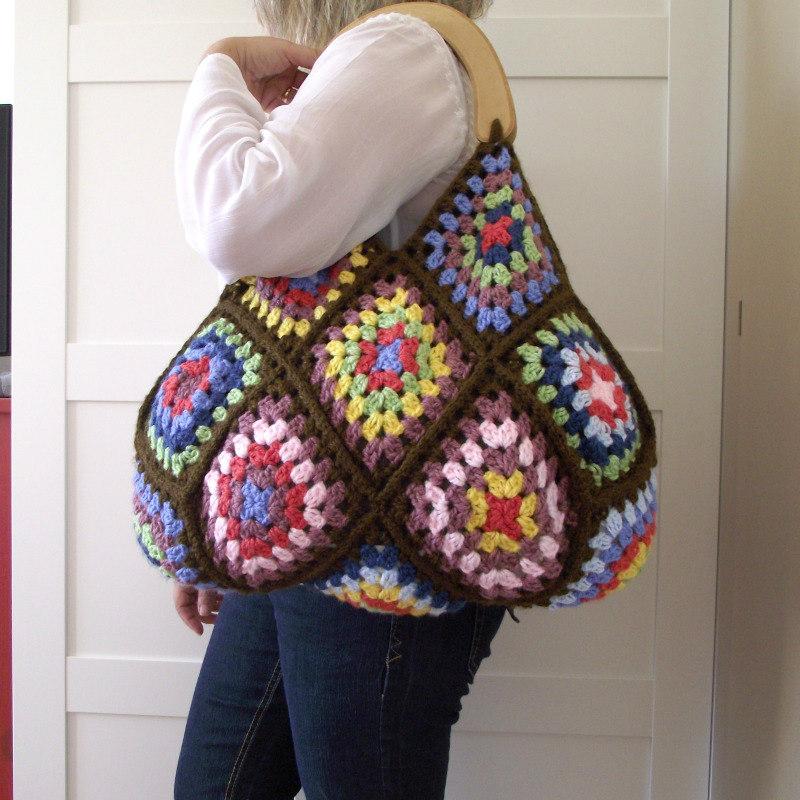 crochet granny square shoulder bag pattern