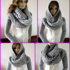 Khloe Hood Scarf with Sleeves