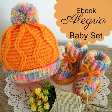 baby crochet hat with pompom and baby crochet booties