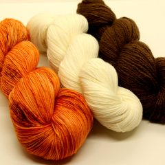 Autumn Fades Shawl Yarn Kit / Merino Sock