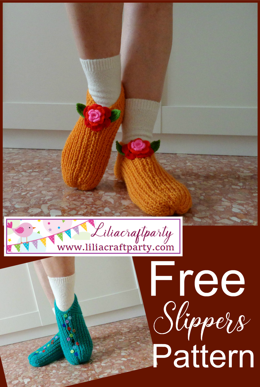 Lucilu Slippers Shoes free crochet pattern cozy slippers for winter easy to knit perfect project for all knitters beginners