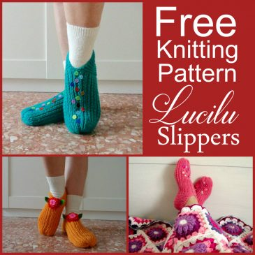 Free Knitting slippers shoes handmade knitting pattern by Lilia Vanini Liliacraftparty