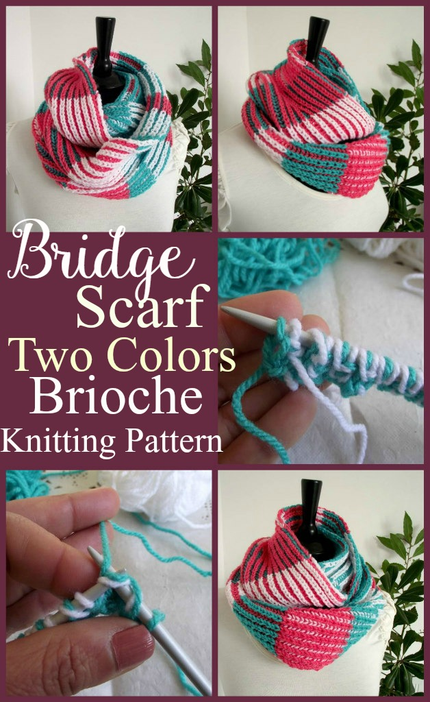 Learn Two Colors Brioche With Bridget Scarf Liliacraftparty