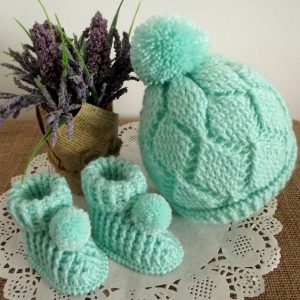 Diamonds Set Baby Crochet Pattern