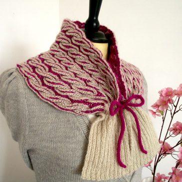 brioche knitting cowl easy knitting two colors brioche cowl neck warmer knitting pdf pattern