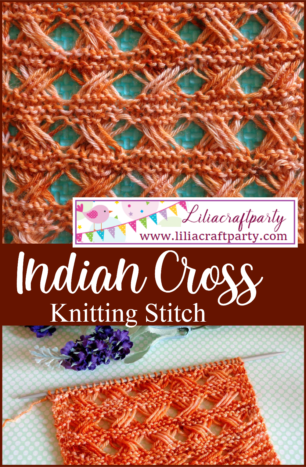Indian Cross Knitting Stitch