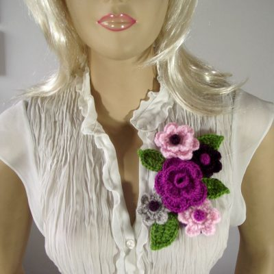 Bouquet Flower Brooch Pin