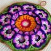 floral crochet pot holder crochet flowers pot holder pattern