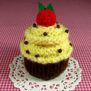 Banana Nut Cupcake Pincushion