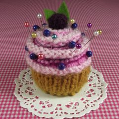 Blueberry Cupcake Pincushion