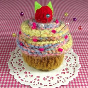 Cherry Candy Cupcake Pincushion