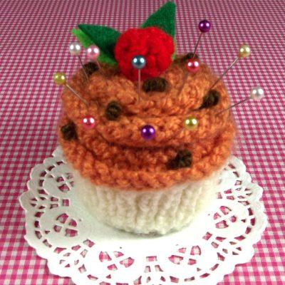 Pumpkim Cupcake Pincushion