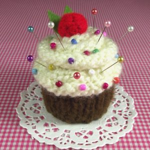 Vanilla Chocolate Cupcake Pincushion
