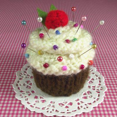 Vanilla Chocolate Cupcake Pincushion