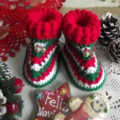 Christmas Baby Booties
