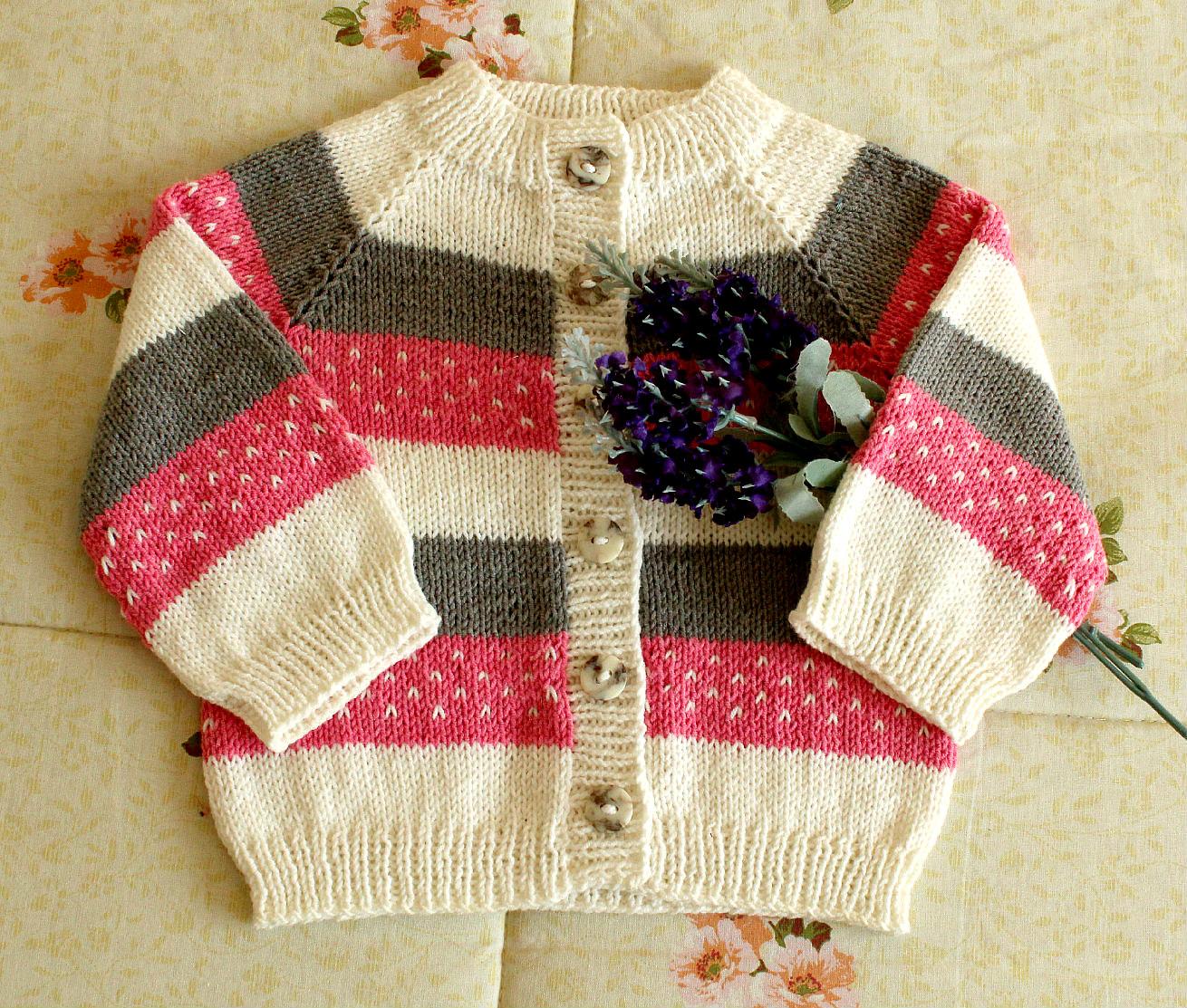 raglan baby cardigan stripes raglan design baby outfit sweater