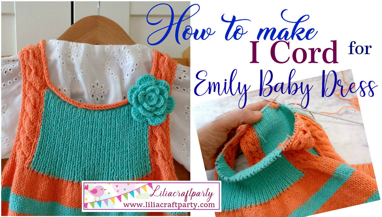 Emily Baby toddler dress jumper striped baby dress knitting pattern by Lilia Vanini Liliacraftparty