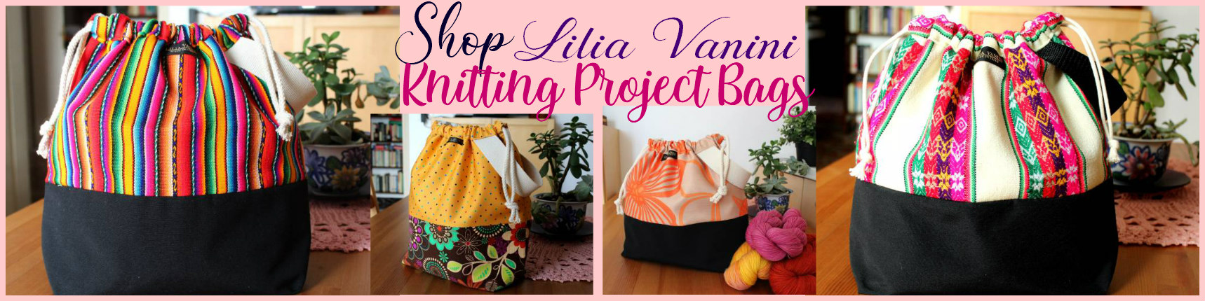Knitting project bags andina peruvian manta wool designs bags for knitting projects by Lilia Vanini Liliacraftparty