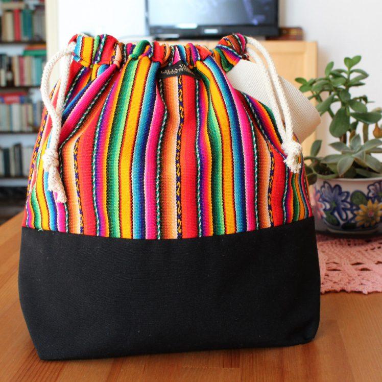 Andina knitting project bag wristlet colorful bag for knitting and crochet
