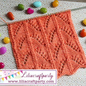 Lace knitting stitch #2 by Lilia Vanini Liliacraftparty