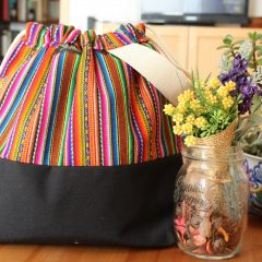 Knitting Project Bag – Andina Collection – Design #1