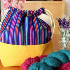 Knitting Project Bag – Andina Collection – Design #3