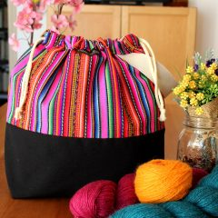 Knitting Project Bag – Andina Collection – Design #5